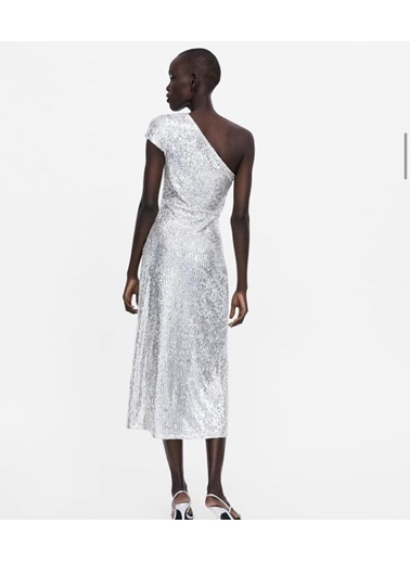 BLACK&GRACE Elbise Gümüş